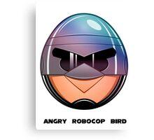 Angry RoboCop Bird Canvas Print