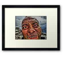 The Mad Man Of The Mountains Framed Print