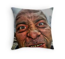 The Mad Man Of The Mountains Throw Pillow