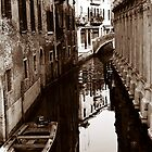 Sepia Boats by Venice