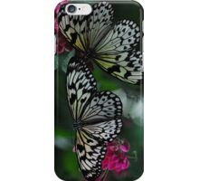 Two Black & White Butterflies iPhone Case/Skin