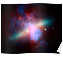 Hubble Space Telescope Print 0036 - Chandra Hubble Spitzer X-ray Visible Infrared Image of M82 - hs-2006-14-f-full_jpg Poster