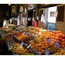 Produce Stand Photographic Print