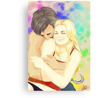 Hug From Behind Canvas Print