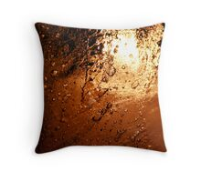 Frozen Flame Throw Pillow