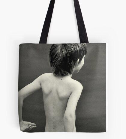 boy in the yard Tote Bag