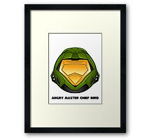 Angry Master Chief Bird Framed Print