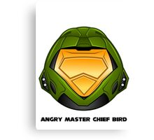 Angry Master Chief Bird Canvas Print