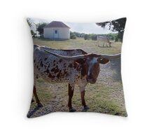 Texas Longhorn I Throw Pillow