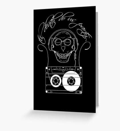 Til Death Do Us Party - light Greeting Card