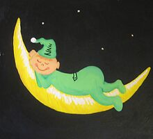 The Green Man in the Moon by maryktiernan