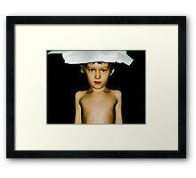 paper hat Framed Print