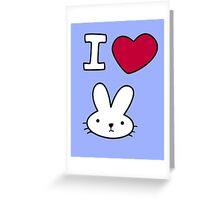 I<3Bunny Greeting Card