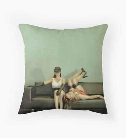 Good Sister, Bad Sister Throw Pillow