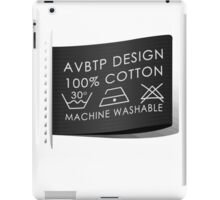 100% Cotton Machine Washable iPad Case/Skin