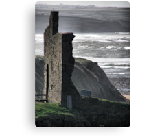 Ballybunion Castle and the Spring Tide Canvas Print