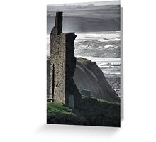 Ballybunion Castle and the Spring Tide Greeting Card