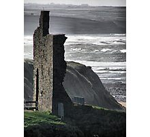 Ballybunion Castle and the Spring Tide Photographic Print