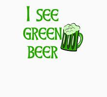 I See Green Beer Funny St Patricks Day Men's Baseball ¾ T-Shirt