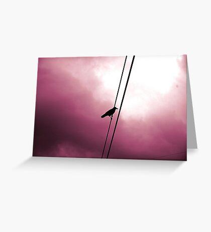 the crow Greeting Card