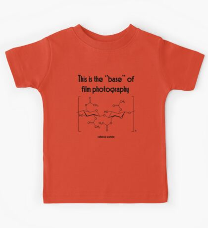 The ''base'' in film photography Kids Tee