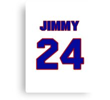 National baseball player Jimmy Jordan jersey 24 Canvas Print