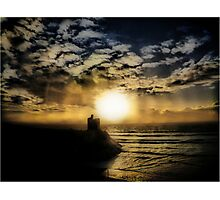 Concentric Silhouette Sunset Photographic Print