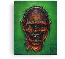Severed Zombie Head Canvas Print
