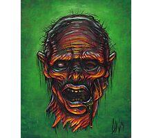 Severed Zombie Head Photographic Print
