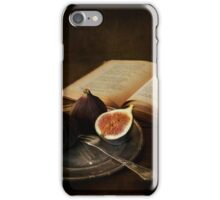 An old book and fresh figs iPhone Case/Skin