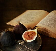 An old book and fresh figs by JBlaminsky