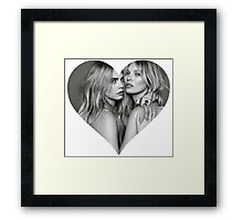 I love Cara Delevigne Kate Moss supermodel  Heart Shirt  Framed Print