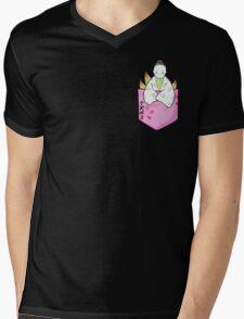 Pocket Princess Kaguya Mens V-Neck T-Shirt