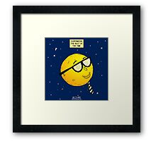 Super Moon the Rest of the Time Framed Print