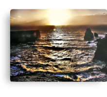 High Tide Sunset Metal Print