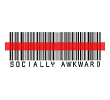 Socially Awkward RED BARCODE by lonelycreations