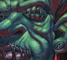 Shrunken Zombie Head Sticker