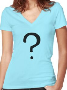 Gotham Riddler Women's Fitted V-Neck T-Shirt