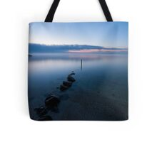 Fog Over The Bay Tote Bag