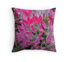 Pink Cleome Throw Pillow