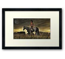 High Plains Warrior Framed Print