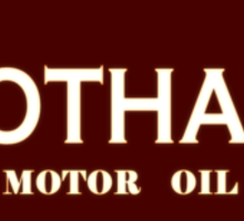 Gotham Motor Oil Sticker