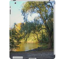 On Golden Waters, the Pocantico River  iPad Case/Skin