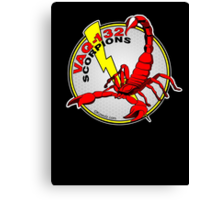 VAQ-132 Scorpions Alternate Logo Concept Canvas Print