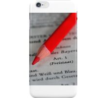 Constitutional Rights - Free State of Bavaria  iPhone Case/Skin