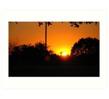 the setting sun... Art Print