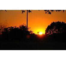 the setting sun... Photographic Print