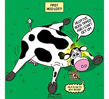 Cow First Moo-lert Emergency Response System Photographic Print
