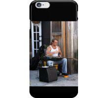 Striking a Chord ~ a Street Musician iPhone Case/Skin
