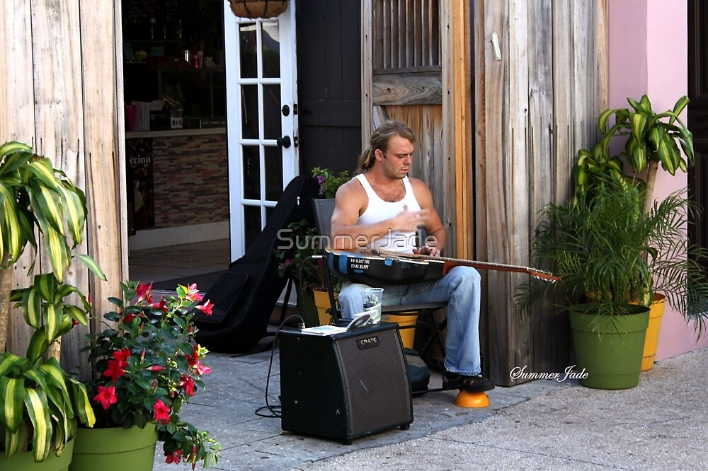 Striking a Chord ~ a Street Musician by SummerJade